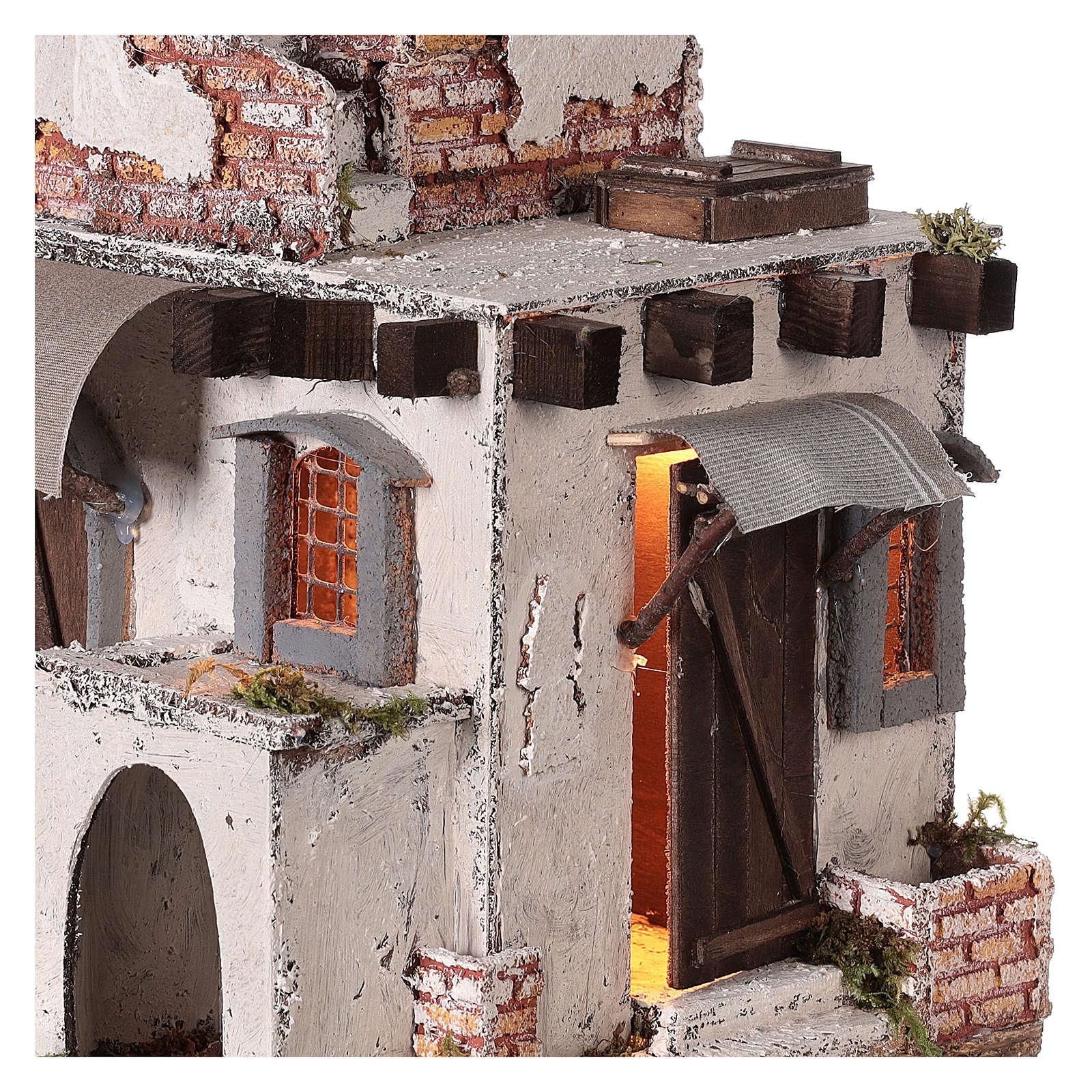 Neapolitan nativity scene Arabian style house with doors and windows 30x30x25 cm 4