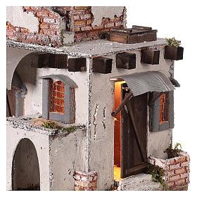 Neapolitan nativity scene Arabian style house with doors and windows 30x30x25 cm s2