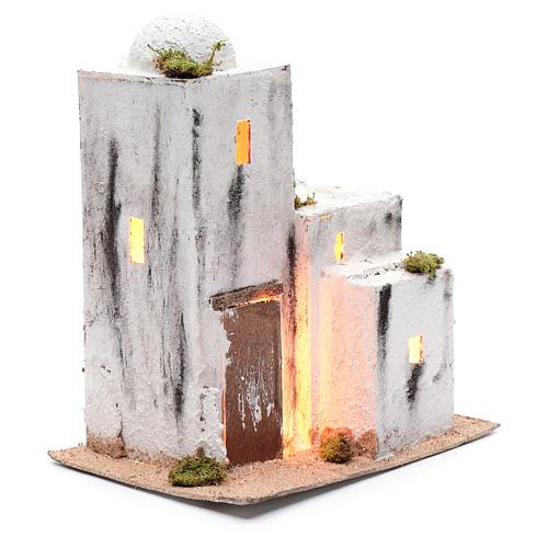 Neapolitan nativity scene Arabian style house 30x25x15 cm 3