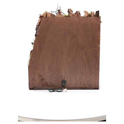 Crèche napolitaine avec miroir et puits 56x50x40 cm 5