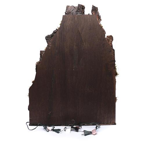 Presepe napoletano 85x60x70 cm arroccato stile 700 4