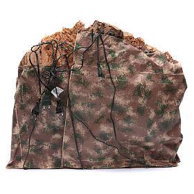 Presepe napoletano capanna ruscello e mulino 55x70x60 cm s4
