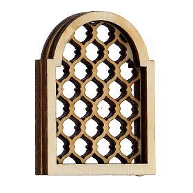 Ventana árabe de madera elaborada belén napolitano s2