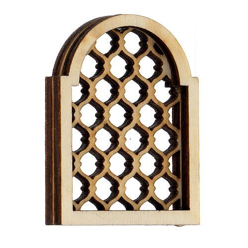 Ventana árabe de madera elaborada belén napolitano 2