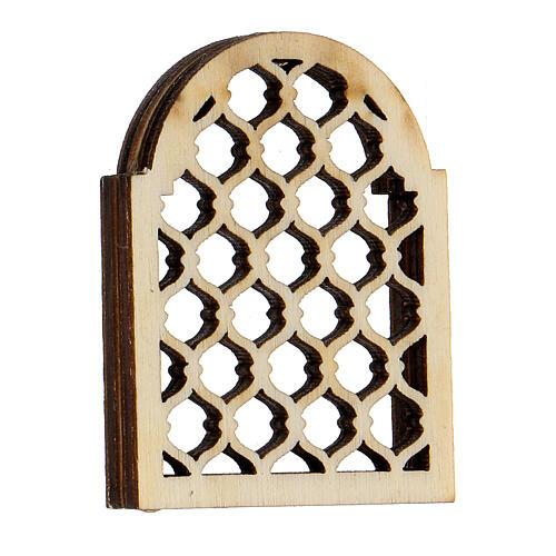 Ventana árabe de madera elaborada belén napolitano 3