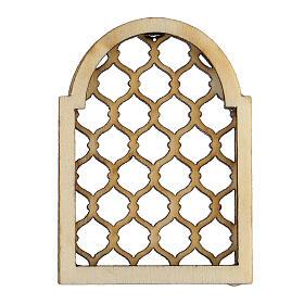 Finestra araba in legno lavorata presepe napoletano s1