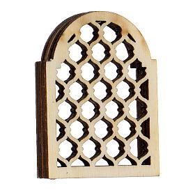 Finestra araba in legno lavorata presepe napoletano s3