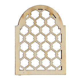 Finestra araba in legno lavorata presepe napoletano s4