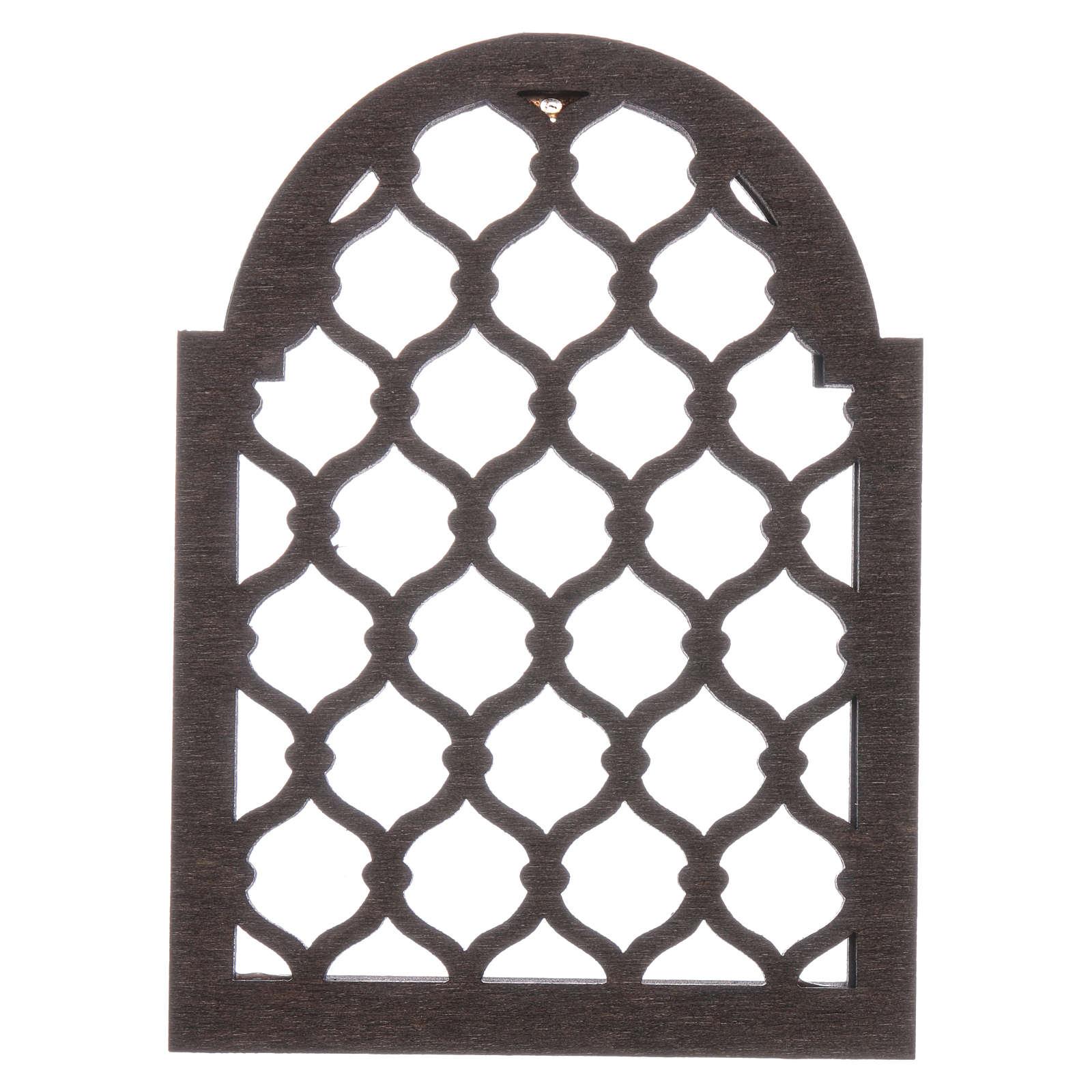 Accesorio belén napolitano hecho con bricolaje ventana árabe 4
