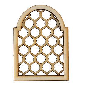 Accesorio belén napolitano hecho con bricolaje ventana árabe s1