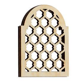 Accesorio belén napolitano hecho con bricolaje ventana árabe s3