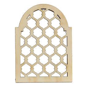 Accesorio belén napolitano hecho con bricolaje ventana árabe s4