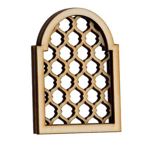 Accesorio belén napolitano hecho con bricolaje ventana árabe 2