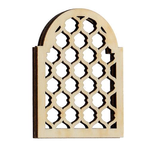 Accesorio belén napolitano hecho con bricolaje ventana árabe 3