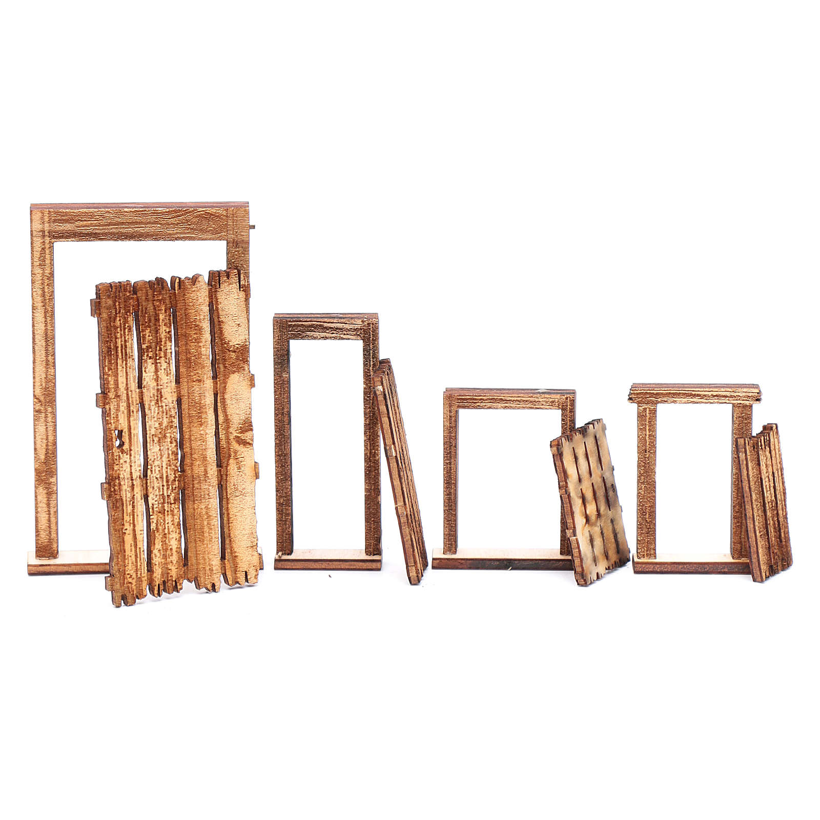 Portone rudere set 4 pz presepe napoletano fai da te legno 4