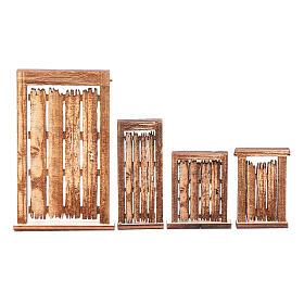 Portone rudere set 4 pz presepe napoletano fai da te legno s1