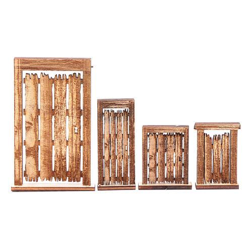 Portone rudere set 4 pz presepe napoletano fai da te legno 1