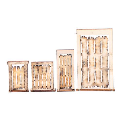 Portone rudere set 4 pz presepe napoletano fai da te legno 2