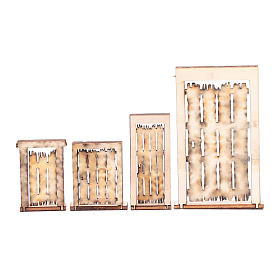 DIY Neapolitan nativity scene accessory door ruins 4 pieces s2