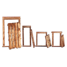 DIY Neapolitan nativity scene accessory door ruins 4 pieces s3