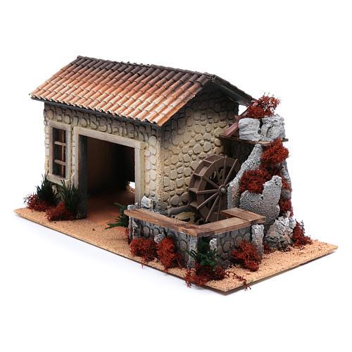 Cortijo con molino de agua en movimiento 30x50x25 cm 2