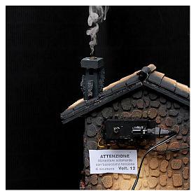 Hostería con humo para pesebre 40x30x25 cm s5