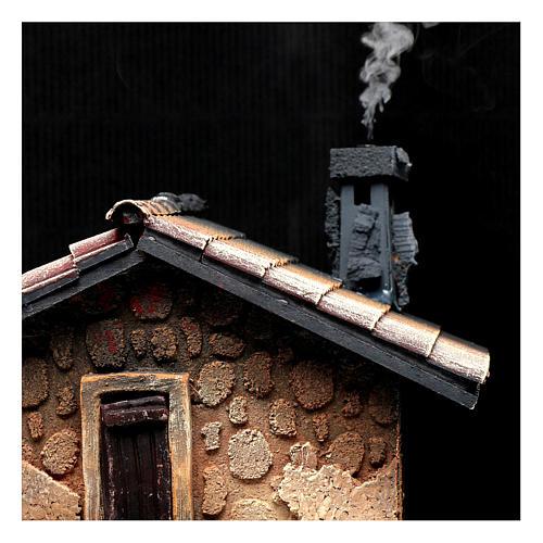 Hostería con humo para pesebre 40x30x25 cm 2