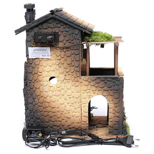 Nativity Scene inn with smoke 40x30x25 6
