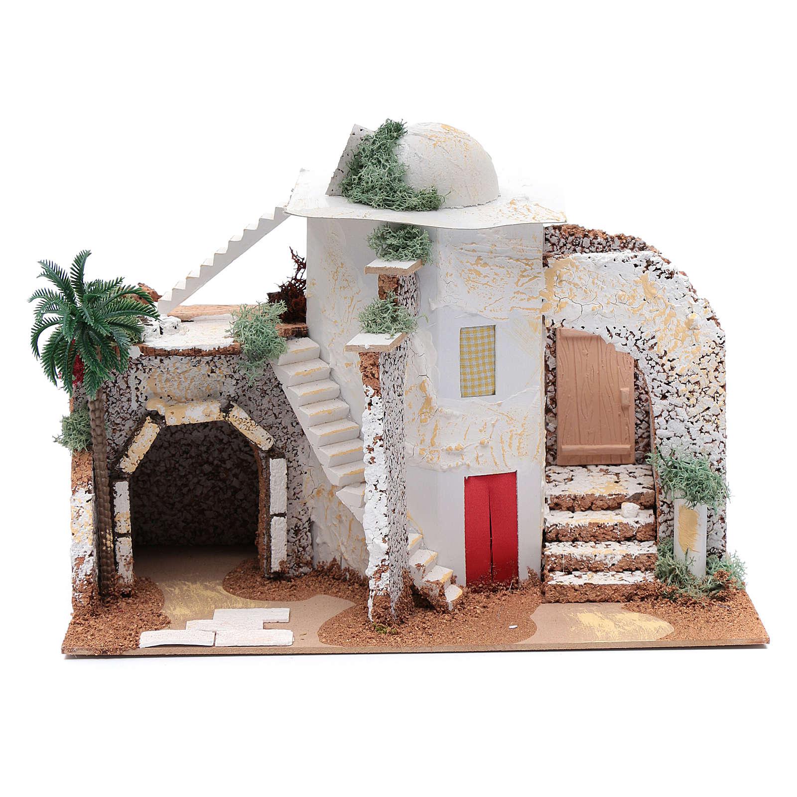 Nativity scene setting Arabian house 25x33x15 cm 4