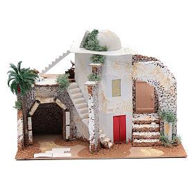 Nativity scene setting Arabian house 25x33x15 cm s1