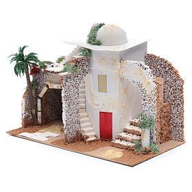 Nativity scene setting Arabian house 25x33x15 cm s2
