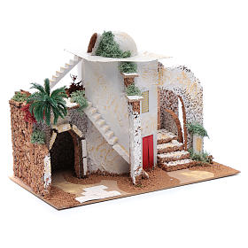 Nativity scene setting Arabian house 25x33x15 cm s3