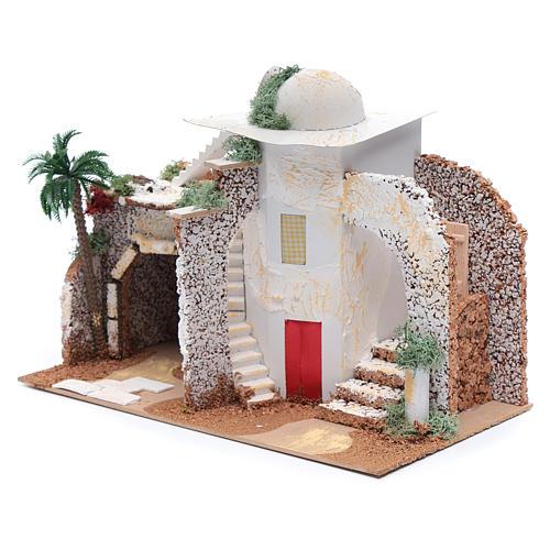 Nativity scene setting Arabian house 25x33x15 cm 2
