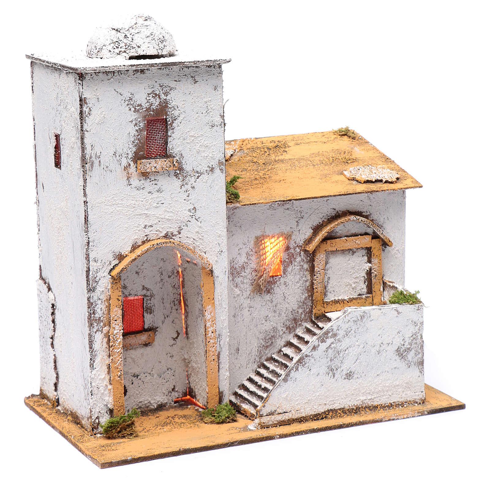 Casa araba 35x30x20 cm luce e cupola 4