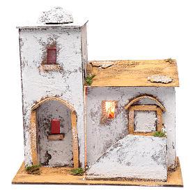 Casa araba 35x30x20 cm luce e cupola s1