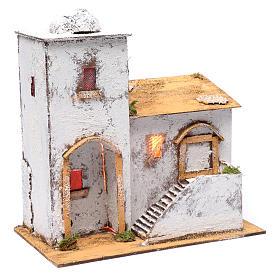 Casa araba 35x30x20 cm luce e cupola s3