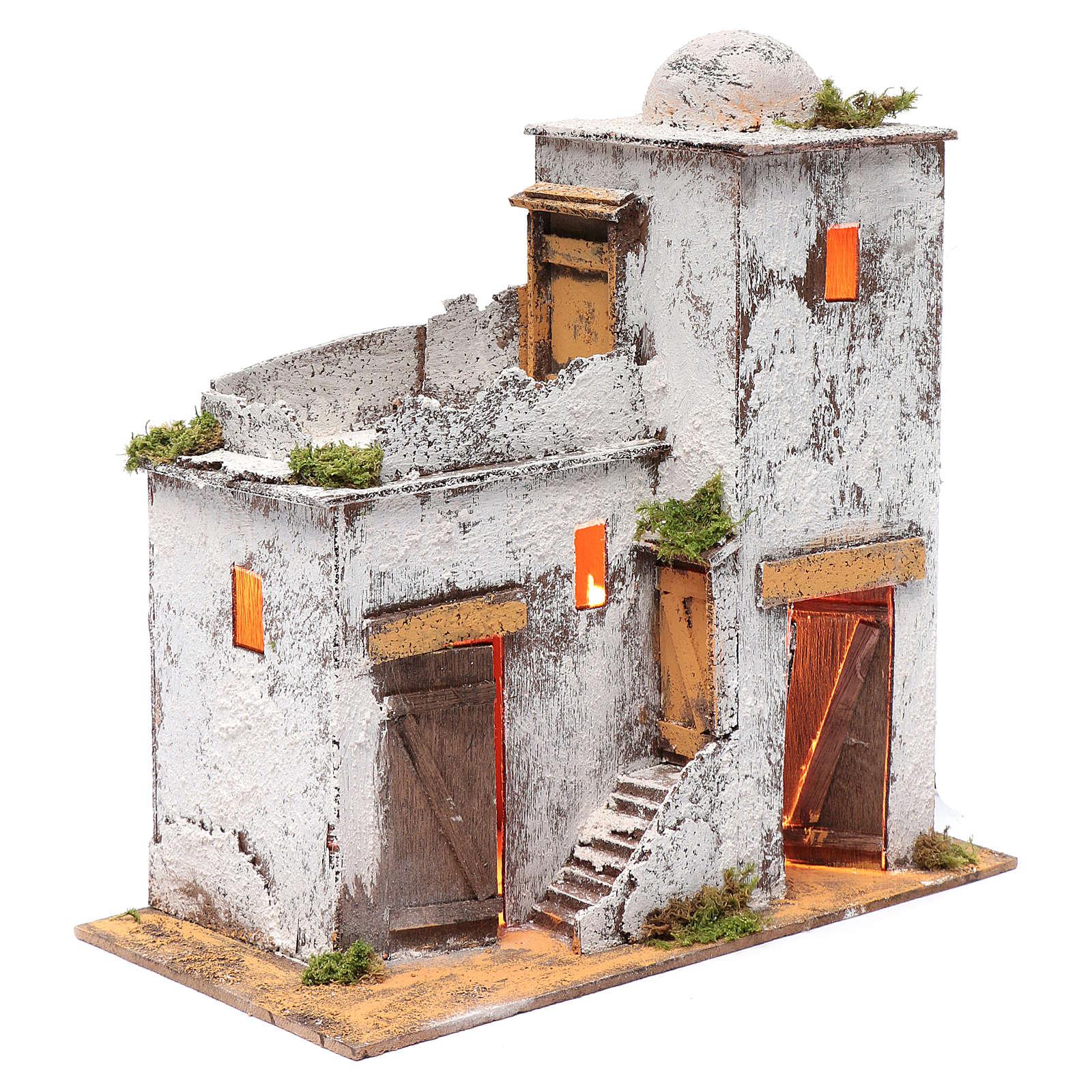 Casa araba 35x35x20 cm luce e porte di legno 4