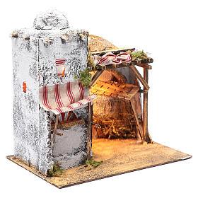 Ambientazione araba tendina e mangiatoia presepe Napoli 30x30x20 cm s3