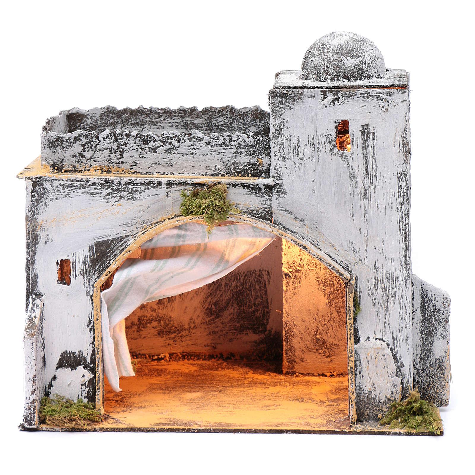 Ambientazione araba capanna tenda presepe Napoli 30x30x20 cm 4