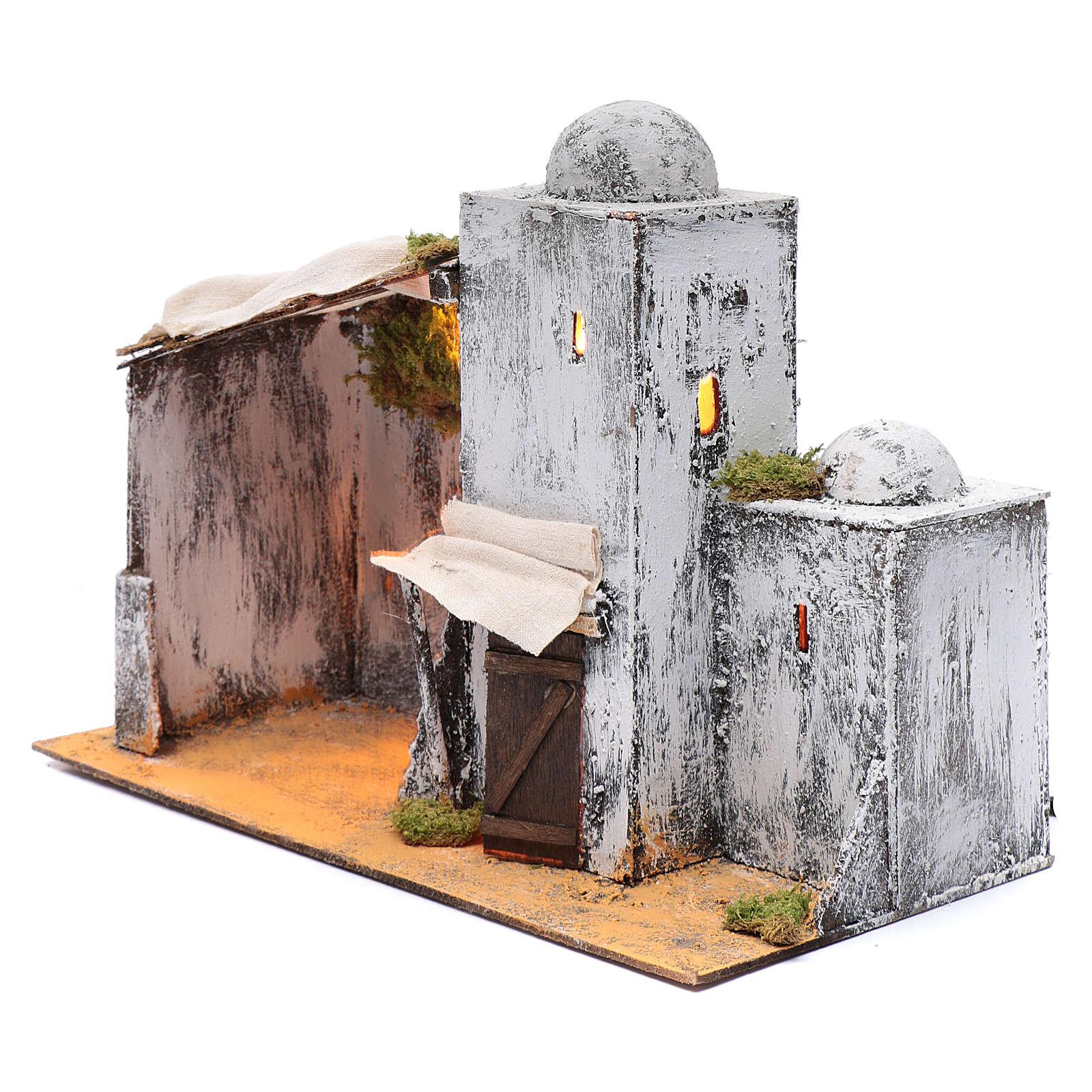 Neapolitan nativity scene setting Arabian hut 30x35x20 cm 4