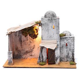 Neapolitan nativity scene setting Arabian hut 30x35x20 cm s1