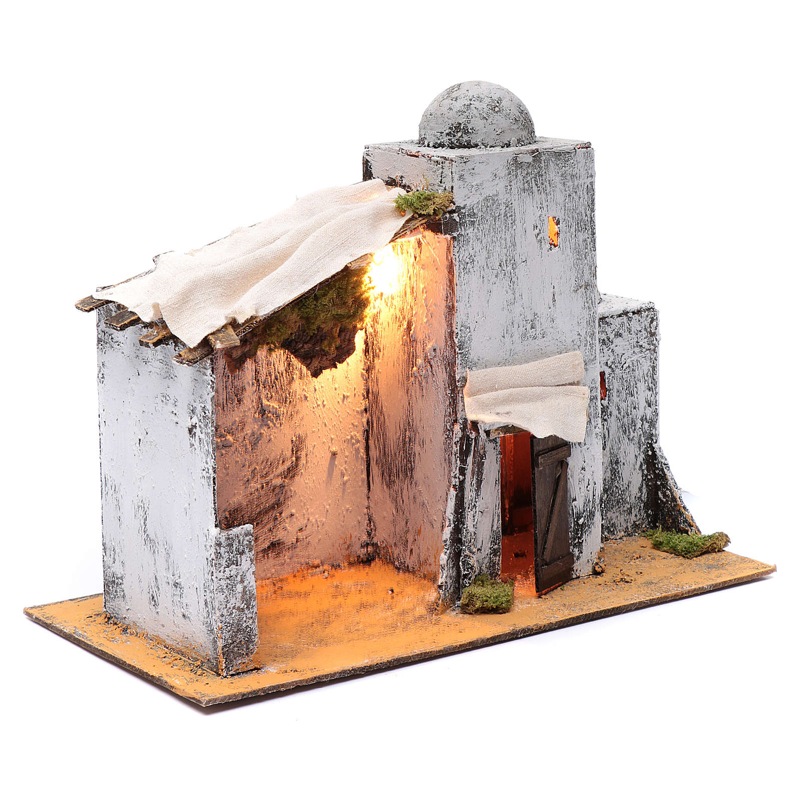 Neapolitan nativity scene setting Arabian hut 30x35x20 cm 4
