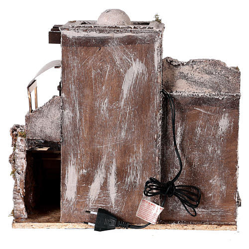 Neapolitan nativity scene setting Arabian house with stairs and hut 35x35x25 cm 5