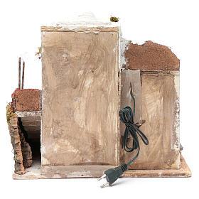 Casa árabe blanca pesebre napolitano 35 x 35 x 25 cm s4