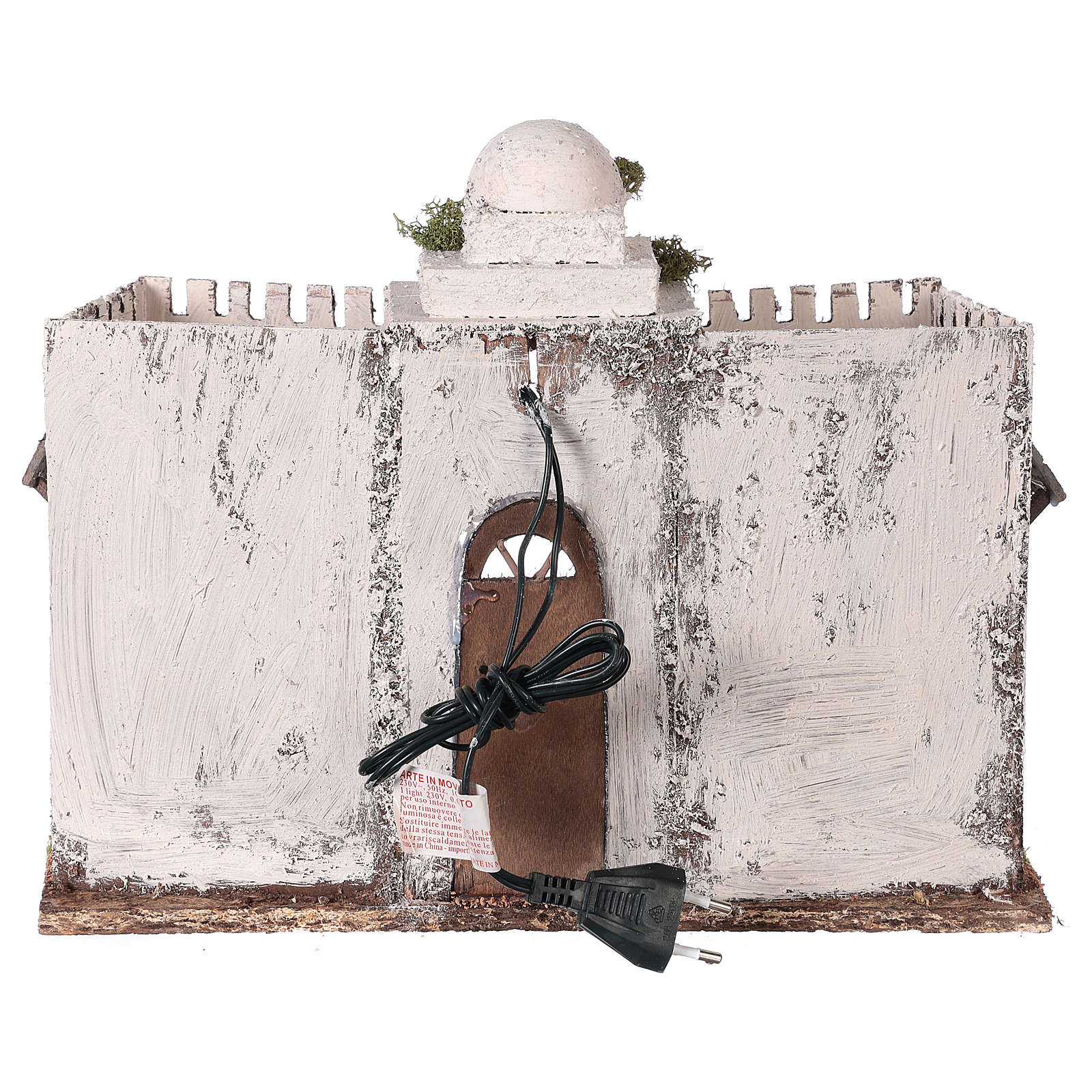 Neapolitan nativity scene setting Arabian setting with double arch and door 30x35x20 cm 4