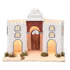 Ambientación casa árabe blanca doble arco y puerta 30 x 35 x 20 cm belén napolitano s1