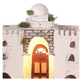 Ambientación casa árabe blanca doble arco y puerta 30 x 35 x 20 cm belén napolitano s2