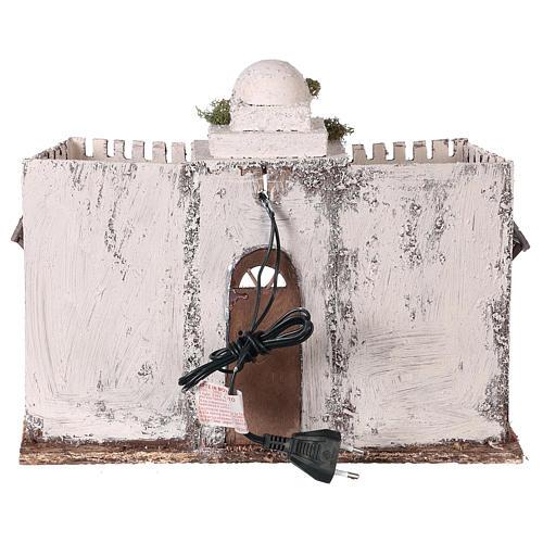 Ambientación casa árabe blanca doble arco y puerta 30 x 35 x 20 cm belén napolitano 5