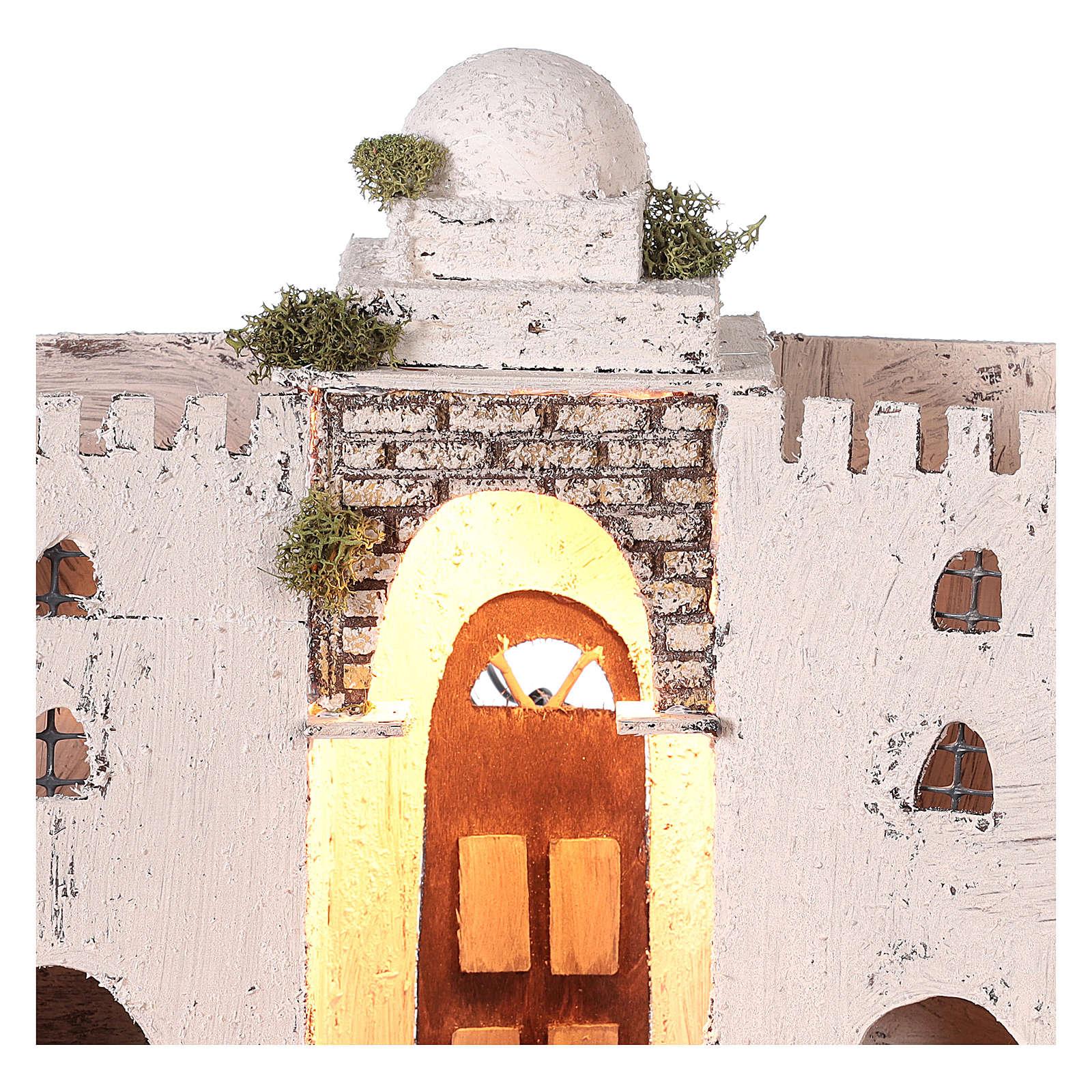 Ambientazione araba bianca doppio arco e porta 30x35x20 cm presepe di Napoli 4