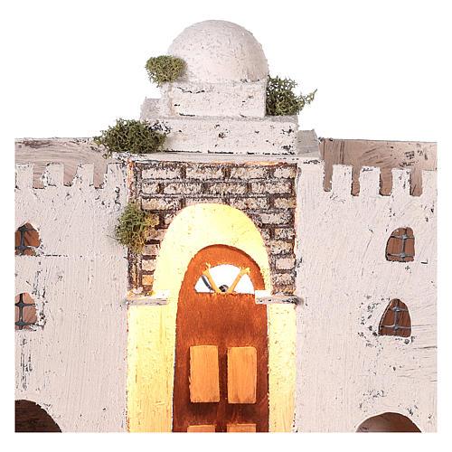 Ambientazione araba bianca doppio arco e porta 30x35x20 cm presepe di Napoli 2